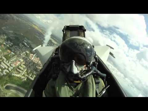 Unique cockpit footage taken by...
