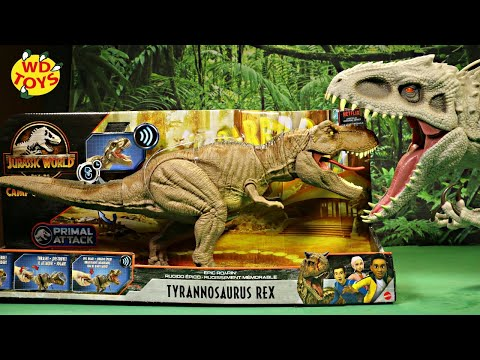 Jurassic World Epic Roarin Tyrannosaurus Rex Unboxing Camp Cretaceous Mattel Dinosaur Toys #withme