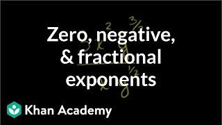 6. Zero, negative, and fractional exponents | Pre-Algebra | Khan Academy