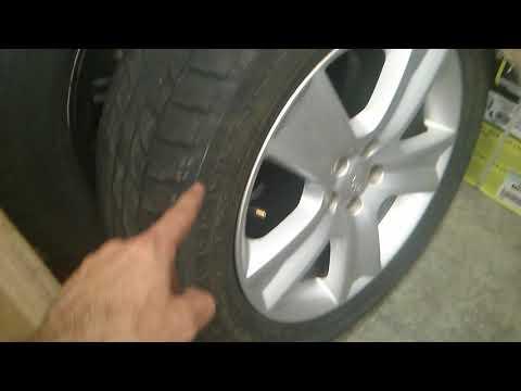 checking Yokohama geolandar 225 60 R17 tire clearance on subaru outback 2005 xt