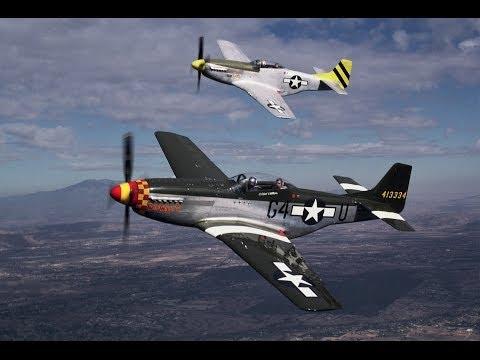 P-51 Mustang foi um caça norte-americano...