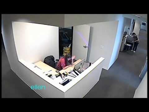 Ellen Scares the New Staffer!