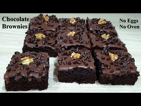 Chocolate Brownies - Without Eggs & Without Oven