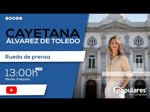 Rueda de prensa telemática de Cayetana Álvarez de ...