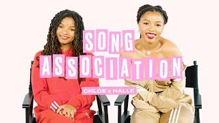 Chloe x Halle Sing Beyoncé, Lady Gaga and Tamia in a Game of Song Association | ELLE