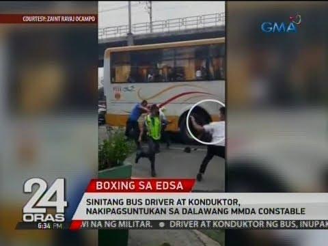 Video 24 Oras: Sinitang bus driver at konduktor, nakipagsuntukan sa dalawang MMDA constable download in MP3, 3GP, MP4, WEBM, AVI, FLV January 2017