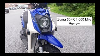 7. 50cc #3 - Yamaha Zuma 50FX One Year 1,000 Mile Review