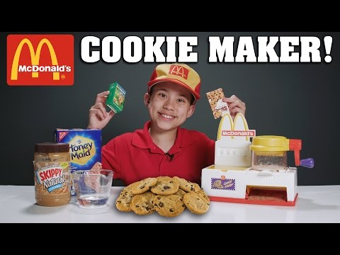 McDONALD'S COOKIE MAKER!!! Making Protein Cookies with Worms! (видео)