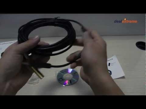 Waterproof USB 2.0 CMOS 4-LED Snake Camera Endoscope -DX