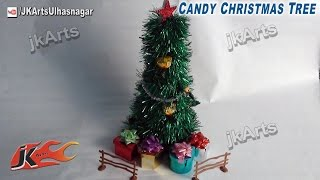 DIY How To Make Candy Christmas Tree (Easy Craft For Kids) - JK Arts 433