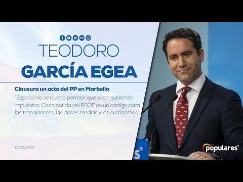 """Teodoro García Egea: """"España no se puede permitir que sigan subiendo impuestos"""""""