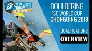 IFSC Climbing World Cup Chongqing 2018 - Bouldering Qualifications Overview by International Federation of Sport Climbing