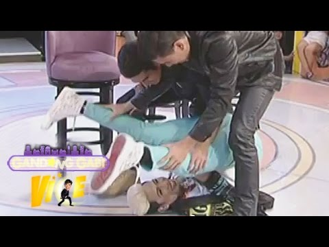 wrestling - Ken admits that he was bullied by his Kuya Gerald. They like to watch wrestling when they were kids, Gerald even created his own wrestling move which he calls,