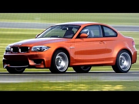 BMW 1 Series M coupe around Top Gear test track (видео)