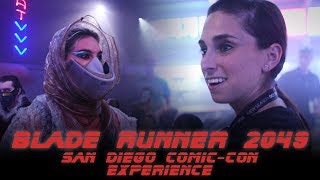 Perri Nemiroff visits the Blade Runner 2049 Experience at San Diego Comic-Con. From the virtual reality ride to the recreated future streets of Los Angeles, follow Perri through this unique live experience in preparation for the release of Blade Runner 2049.Follow us on Twitter: https://twitter.com/ColliderVideoFollow us on Instagram: https://instagram.com/ColliderVideoFollow us on Facebook: https://facebook.com/colliderdotcomAs the online source for movies, television, breaking news, incisive content, and imminent trends, COLLIDER is a more than essential destination: http://collider.comFollow Collider.com on Twitter: https://twitter.com/ColliderSubscribe to the SCHMOES KNOW channel: https://youtube.com/schmoesknowCollider Show Schedule:- MOVIE TALK: Weekdays  http://bit.ly/29BRtOO- HEROES: Weekdays  http://bit.ly/29F4Job- MOVIE TRIVIA SCHMOEDOWN: Tuesdays & Fridays  http://bit.ly/29C2iRV - TV TALK: Mondays  http://bit.ly/29BR7Yi - COMIC BOOK SHOPPING: Wednesdays  http://bit.ly/2spC8Nn- JEDI COUNCIL: Thursdays  http://bit.ly/29v5wVi - COLLIDER NEWS WITH KEN NAPZOK: Weekdays  http://bit.ly/2t9dNIE- BEST MOVIES ON NETFLIX RIGHT NOW: Fridays  http://bit.ly/2txP3gn- BEHIND THE SCENES & BLOOPERS: Saturdays  http://bit.ly/2kuLuyI- MAILBAG: Weekends  http://bit.ly/29UsKsd