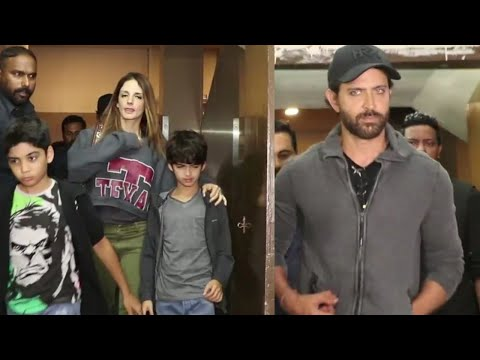 Ex Couple Hrithik Roshan and Susanne Watch Movie T