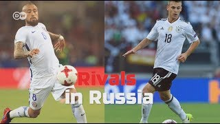 Germany face Chile in their second game at the FIFA Confederations Cup in Russia. It's the duel of Bayern's Arturo Vidal and Joshua Kimmich. Both highly talented, but different. Who are you rooting for?Subscribe: http://youtube.com/dwkickoffDW Kick off! is your ticket to German football:Facebook: http://facebook.com/dw.kickoffTwitter: http://twitter.com/dw_sportsWebsite: http://dw.com/sports