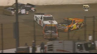 NASCAR Camping World Truck Series 2017. Eldora Dirt Derby. B. Pierce, J.J. Yeley & C. Windom Crash