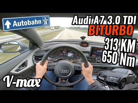 2014 Audi A7 3.0 TDI 313 KM - V-max. Próba autostradowa.