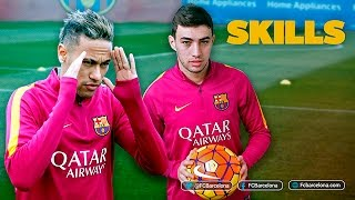 Munir and Neymar Jr shows off skills during training session, neymar, neymar Barcelona,  Barcelona, chung ket cup c1, Barcelona juventus