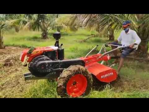 KUBOTA PEM 140 plus power tiller  feild installation @kubota boomi agro needs