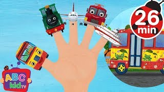 Finger Family Vehicles 2D +More Nursery Rhymes & Kids Songs Cocomelon ABCkidTV