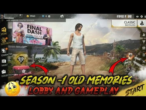 Free fire Battlegrounds Old Season 1 Memories || Old Lobby And Old Gameplay 😀