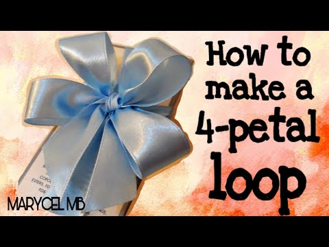 HOW TO MAKE A 4 LOOP RIBBON | How to TIE A PERFECT 4 PETAL BOW #diyribbon