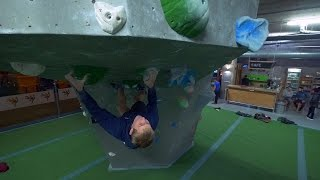 Nathan Whaley Is Throwing Heel And Toe Hooks At The Arch by Eric Karlsson Bouldering