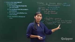 Video Topic andQuipper Video -  Main Idea of The Text - Persiapan UN Bahasa Inggris SMP 2017 MP3, 3GP, MP4, WEBM, AVI, FLV November 2017