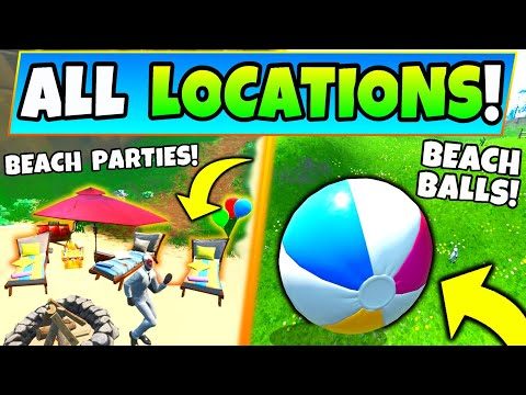 Fortnite BEACH PARTIES LOCATIONS + BEACH BALLS – 14 Days Of Summer Challenges
