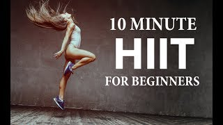 The best home workout for beginners can be found in our 90 day fitness and nutrition program http://athleanx.com/x/best-home-hiit-workoutThis 10 minute home HIIT workout for beginners is the ideal beginner HIIT routine to get you ready for tougher HIIT workouts to come!  This is HIIT for beginners that will include basic exercise as well as modifications to ensure that anyone can try this HIIT home workout for beginners.For this beginner HIIT workout you'll set an interval timer for 10 rounds with 10 seconds of rest and 50 seconds of work.  You'll do 50 seconds of each of the moves in this 10 minute beginner HIIT workout, and then take 10 seconds before moving on to the next.  If you are a true beginner you'll do 2 rounds of this HIIT workout at home for a total of a 10 min home HIIT workout. If you are more advanced you can try for 3 or 4 total rounds of this home HIIT workout for beginners for a total of a 15 or 20 minute HIIT workout.  If you are looking for full length workouts that burn  fat and build muscle check out our complete Athlean XX for Women program https://athleanx.com/best-workout-program-for-women/getleanHere are the exercises that make up this HIIT workout for beginners:1) Pushups2) Forward Lunge w/3 Pulses3) Jump Rope4) Pike Pushup w/Jump5) Squat w/KickoutFor all the best beginner HIIT workouts subscribe to our Youtube channel https://www.youtube.com/user/womensworkouts