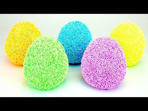 Сюрпризы из шарикового пластилина с игрушками внутри - DomaVideo.Ru