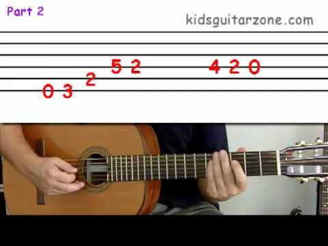 Guitar lesson 4B : Beginner — 'Beat it' on three strings