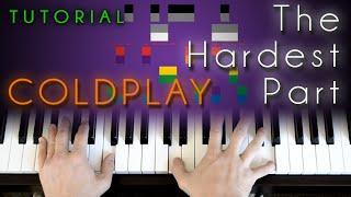 Coldplay - The Hardest Part (piano tutorial)