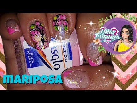 Diseños de uñas - Decoración de Uñas Mariposa/DISEÑO DE UÑAS CON MARIPOSA