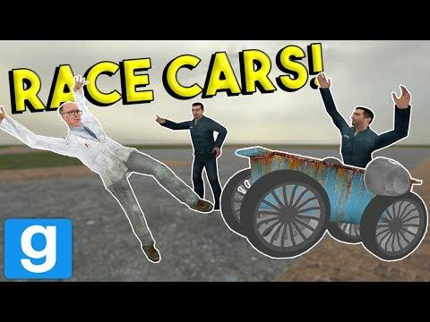 BUILDING AND RACING CARS! -  Garrys Mod Gameplay - Gmod Multiplayer Sandbox Challenge (видео)