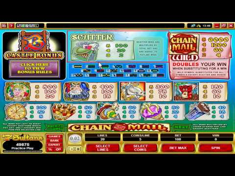 Play the Chain Mail Video Slot Machine at  7 Sultans Online Casino