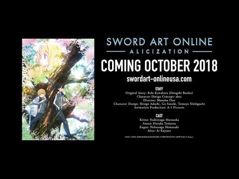Sword Art Online: Alicization Arc (Season 3) Reveals Official English Subtitled Promotional Video!