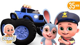 Video Car Videos | Monster Trucks  | Vehicle Song | Nursery Rhymes Compilation from Jugnu Kids MP3, 3GP, MP4, WEBM, AVI, FLV November 2017