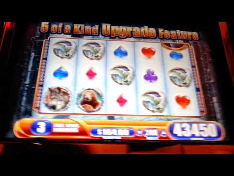 Winter Wolf Max Bet Bonus Super Big Win WMS Slot Machine