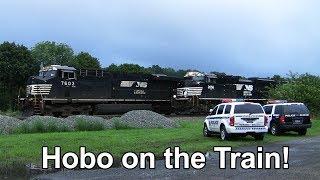 Video Hobo Riding the Train - Police Arrive! + 3 Passing Trains MP3, 3GP, MP4, WEBM, AVI, FLV Juni 2019