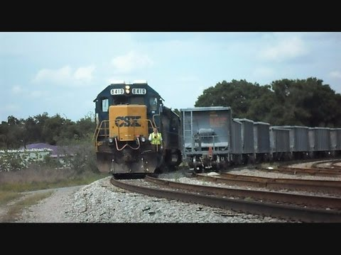 CSX locomotive - This is a video I made at the Mulberry Yard in Florida of two CSX locomotives pulling a train into the yard then going up along side the train to park for th...