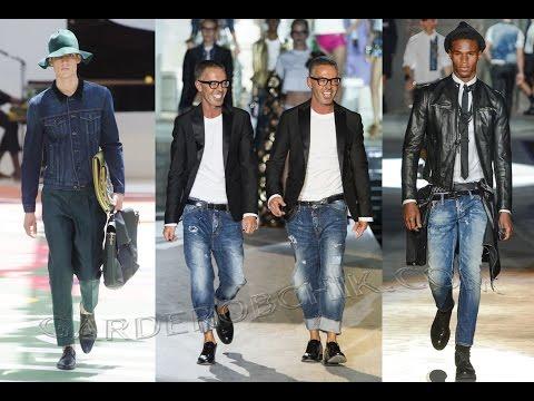 Модные Мужские Джинсы - 2019 / Fashionable men's jeans видео
