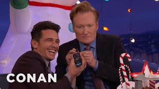 "Video James Franco Answers ""The Disaster Artist"" Phone Number  - CONAN on TBS MP3, 3GP, MP4, WEBM, AVI, FLV Januari 2018"