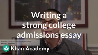 Admissions officers offers tips on writing a strong college essay.