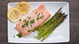 Grilled Citrus Salmon And Asparagus by Tasty