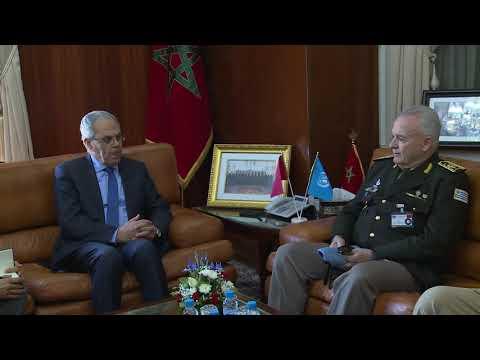 تنفيذا للتعليمات الملكية ...لوديي يستقبل المستشار العسكري لعمليات حفظ السلام