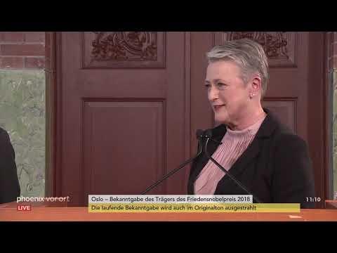 Bekanntgabe der Träger des Friedensnobelpreises 2018  ...