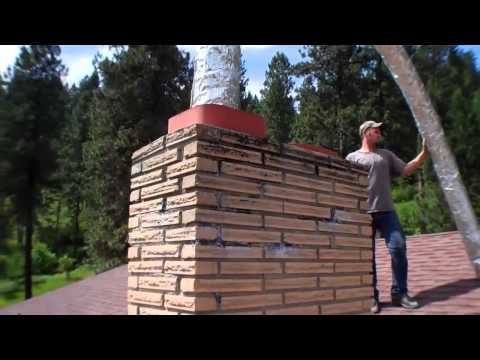 Chimney Liner Installation Part 2 - Inserting the Liner